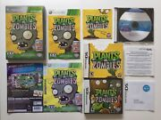 Popcap Ea Plants Vs Zombies Xbox 360 And Ds Game Cases Manuals Peggle Nights Pc