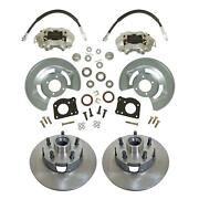 1964-73 Ford Mustang Front Disc Conversion Kit Drum-disc Lower Only 11 Rotors