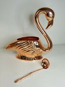 Absolut Elyx Copper Flamingo Punch Bowl And Serving Utensil New