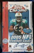 2005 Topps Chrome Football Factory Sealed Hobby Box 24 Packs Aaron Rodgers Rc🔥