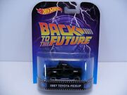 2013 Hot Wheels Retro Bttf Back To The Future 1987 Toyota Pickup W/ Real Riders