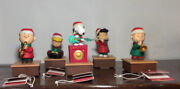 Mint Set Hallmark Holiday Peanuts Band 2011 Snoopy Linus Lucy Charlie Schroeder