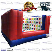 13x13ft Inflatable 3d Twister Family Funny Sport Game With Air Blower