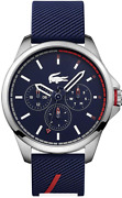 Lacoste Stainless Steel Quartz Watch With Rubber Strap