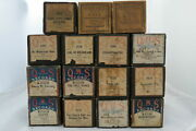 Lot Of 15 Antique Player Piano Rolls Duo-art And Qrs