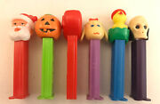 6pc Lot Pez Candy Dispensers - Holidays - Halloween Easter Xmas Valentines