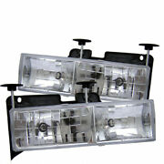 Spyder For Chevy Tahoe 1995-1999 Crystal Glass Headlights Chrome Hd-yd-cck88-c