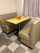 Mid Century Brody Seating Diner Cafe Restaurant Formica Yellow Table Booth