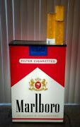 Marlboro Lighted Huge Double Sided Store Display Sign Phillip Morris Rare