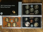 2012-s Us Mint Silver Proof Set Complete With Original Box And Coa 14 Coins