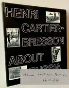Henri -bresson / About Russia Signed 1st Edition 1974