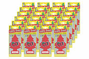 Little Trees Hanging Car Air Freshener Strawberry Scent - Pack Of 24 Pcs