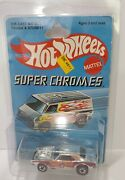Hotwheels Redline Heavy Chevy Chrome With Orange And Red Tampo On Card Rare