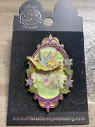 Disney Sweet Tinkerbell Floral Mirror Fairy Pin New On Card Tink