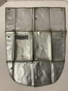 Vintage 1930's Chevrolet Winter Radiator Cover Tear Drop W/ Vent And Grommet Holes