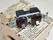 Lot Of 10 General Electric Ge7600-1 Two Single Pole Switches Nos Brown