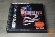Resident Evil 2 Dual Shock 1st Print Playstation 1 Ps1 1998 Complete - Ex