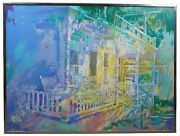 Pat Mayhew Original Signed Oil Painting On Canvas Impressionist Painting 48
