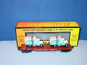 Mth - R K - 30 - 76116 - Wisconsin Central Flat W/ Two Dairy Trucks