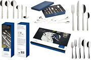 Villeroy And Boch Cutlery Set Selection - 24/30/68 Piece Knife Fork Spoon