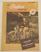 Rare 1948 The Indian Motorcycle Magazine Vol 1 Issue 1 Ladd Cycle Movie Cover