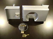 Lot Of 8 Hd Bolt On Shipping Container Security Lock Box And Template W/ Free Lock
