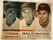 1965 Baltimore Orioles Mlb Yearbook Signed By B Robinson H Bauer And P Blair
