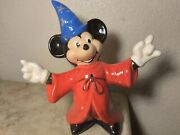 Rare Very Rare Vintage Mickey Mouse Sorcerer Porcelain Figurine Water Pipe