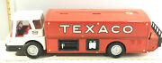 Vintage Texaco Gasoline Tanker Truck Pressed Steel Magic Triangle Toys Made Usa