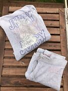 Juicy Couture Vintage Tracksuit Set Grey Velour S Pink Glitter And Silver Dog