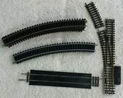 Vtg Tyco Ho Scale 9 Section 18 Radius Curve 1 Rerailer 1 Left Switch 1/3 18r