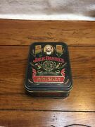 Vintage Jack Daniels Old No 7 Whiskey Tin Hinged Embossed Box Empty
