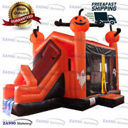 20x13ft Inflatable Halloween Combo Bounce House And Slide With Air Blower