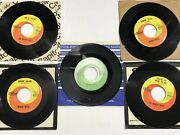 Clean Lot Of 5 Beach Boys 45 Rpm Records W/sleeves Includes Star Line Green
