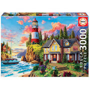 Educa Seaside Scenery Lighthouse 3000 Piece Adult Decompression Puzzles Toys New