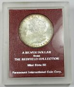 1897-p Paramount Redfield Collection Silver Morgan Dollar 1 Us Coin Item 27301d