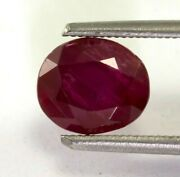 Burma Ruby 2.26 Cts Natural Untreated Red Oval