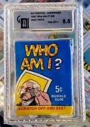 1967 Topps Who Am I Sealed Unopened Wax Pack 5 Cent Gai Nm-mint+ 8.5
