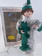 Vintage Telco Motionettes Of Christmas Animated Jester Puppet New Open Box 21