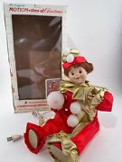 Telco Motionettes Of Christmas Animated Jester Red And Gold Working New Open Box