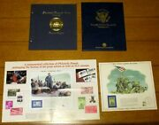 Franklin Delano Roosevelt + Ronald Reagan Stamp And Covers + Iwo Jima Print