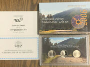 2006 P D S Us Mint Westward Journey Nickel Series Coin 3 Coin Set W/box And Coa
