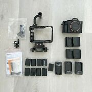 Sony Alpha A7rii 42.4mp Digital Camera 9 Batteries, 5 Chargers, Cage, 3396 Count
