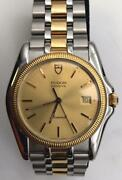 Menand039s Tudor Monarch 15633 18k Yellow Gold And Ss Swiss Quartz Gold Dial Watch 38mm