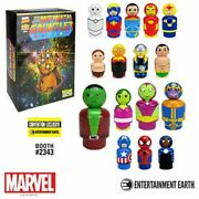 Infinity Gauntlet Pin Mates Wooden Collectibles Set Of 16 - Convention Exclusive