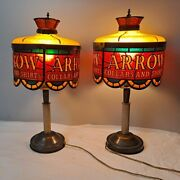 Vintage Small Arrow Collars And Shirts Table Lamps Acrylic Stained Glass Shades