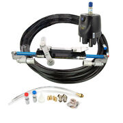 300hp Hydraulic Outboard Steering System Kit Boat Marine Cylinder Helm Pump Kit