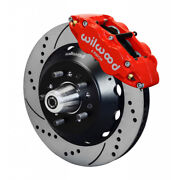 Wilwood For Mustang 1965-1969 Brake Kit Front Hub Kit 14.00 Inches Drill Red