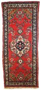 Handmade Vintage Oriental Runner 2.6and039 X 6.3and039 81cm X 194cm 1960s - 1c616