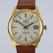 Vintage Longines 18ct Gold Automatic Admiral 5 Star Watch